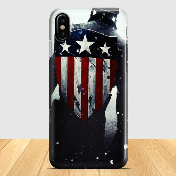 Captain America Flag Shield iPhone X Case | Tridicase