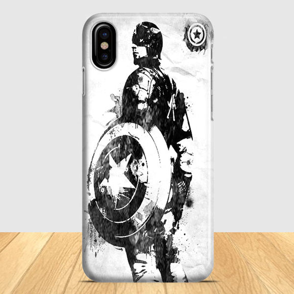 Captain America Marvel Art iPhone X Case | Tridicase