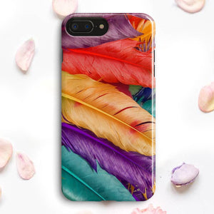 Colored Feathers Plums iPhone 7 Plus Case | Tridicase