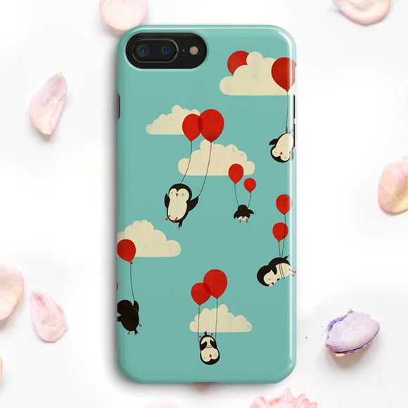 Flying Ballons Penguins iPhone 7 Plus Case | Tridicase