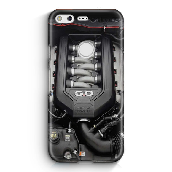 5.0L Coyote Ford Mustang GT Engine Google Pixel XL Case | Tridicase