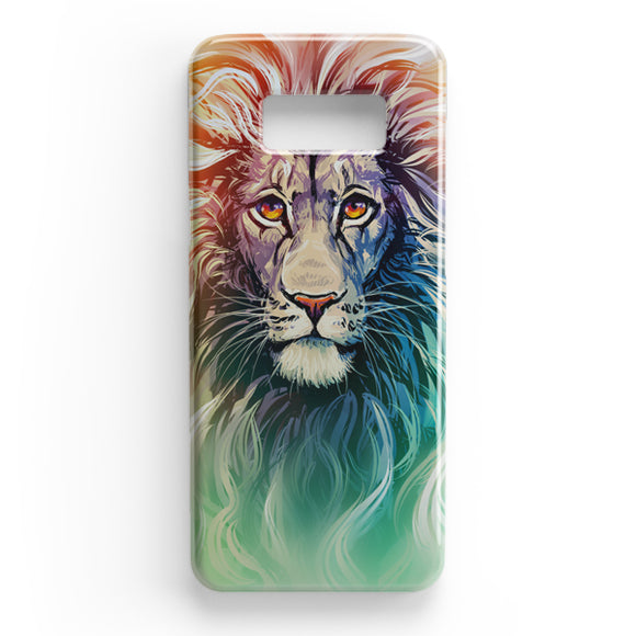 A Color Sketch Of A Fierce Lion Samsung Galaxy S8 Plus Case | Tridicase