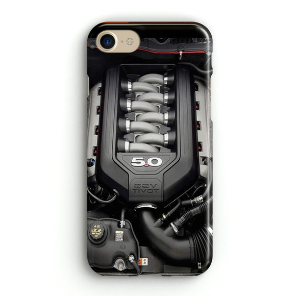 5.0L Coyote Ford Mustang GT Engine iPhone 8 Case | Tridicase