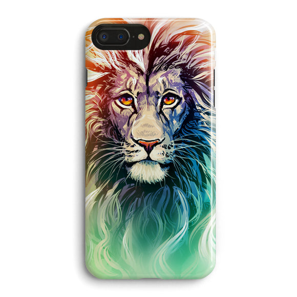 A Color Sketch Of A Fierce Lion iPhone 7 Plus Case | Tridicase