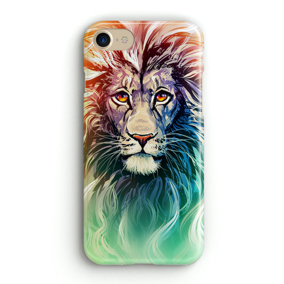 A Color Sketch Of A Fierce Lion iPhone 8 Case | Tridicase