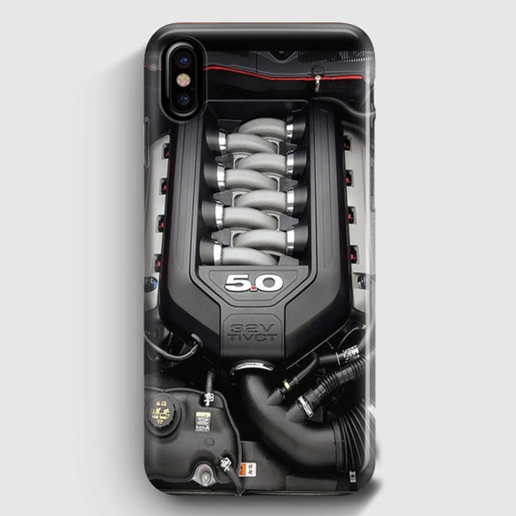 5.0L Coyote Ford Mustang GT Engine iPhone X Case | Tridicase