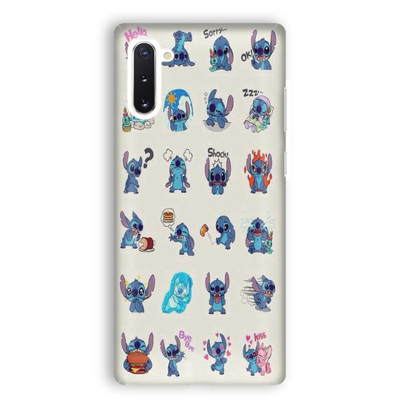 Lilo And Stitch Emoticon Samsung Galaxy Note 10 Case | Tridicase