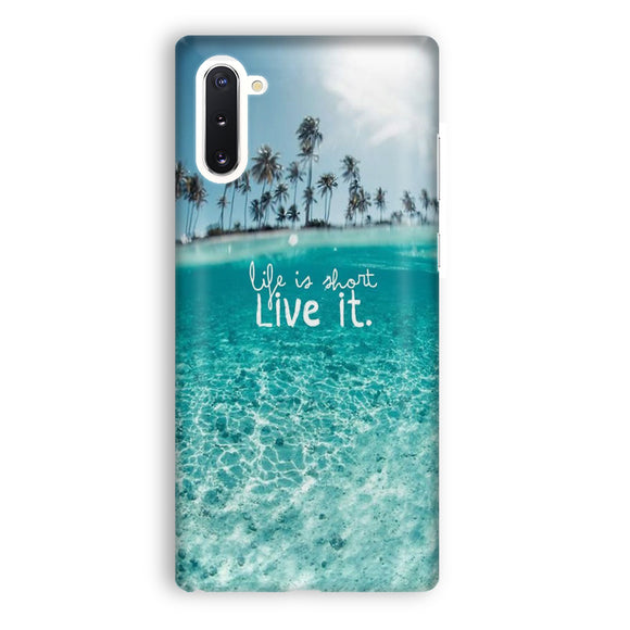 Beach Life Is Short Samsung Galaxy Note 10 Case | Tridicase