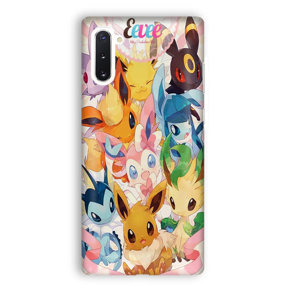 Eevee Evolution Samsung Galaxy Note 10 Case | Tridicase