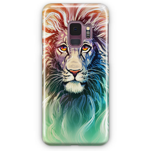 A Color Sketch Of A Fierce Lion Samsung Galaxy S9 Case | Tridicase