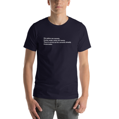 Errors on His Console Kubernetes T-Shirt (Unisex) - Programmer Shirt