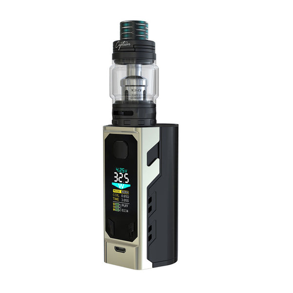 Original IJOY Captain X3 324W 20700 TC Kit with 8ml Captain X3 Tank & Big Color OLED Screen No 18650 Battery Huge Power Vape Kit