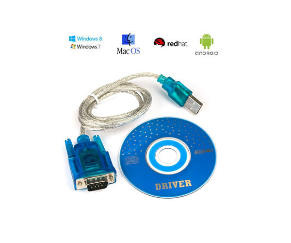 6Ft (6 Feet) USB to Serial (RS-232 9-Pin) Adapter for Win 7/8/CE/XP/2000, Mac, Linux, Android
