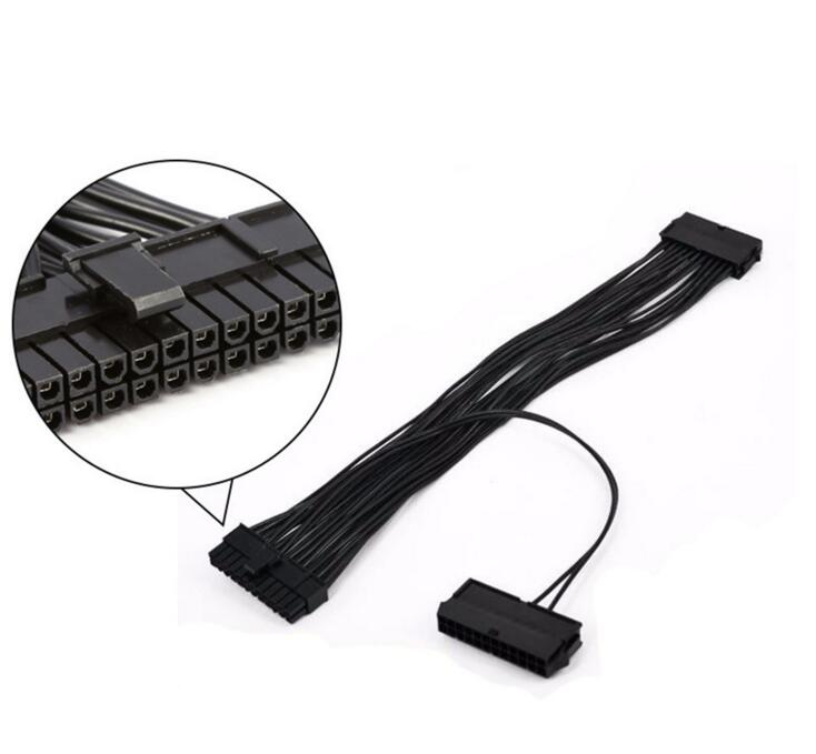 "11"" (11-inch) 24-Pin (20+4) Male to Dual 24-Pin Female PSU ATX Motherboard Adapter"