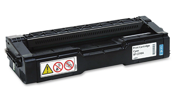 Ricoh 406345 Cyan Toner Cartridge SP-C310A 2500 Page for SPC242SF