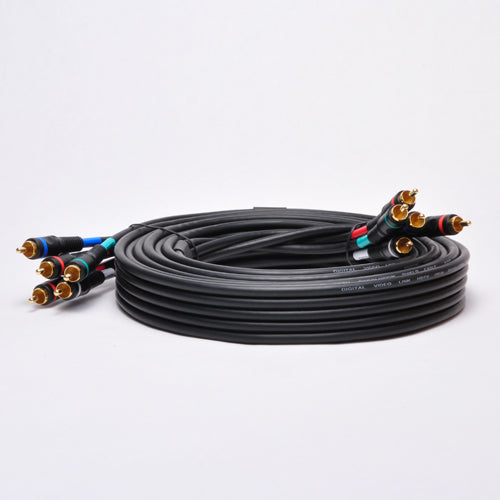 P3V2A-20 20Ft 5-RCA Component Video/Audio Coaxial Cable RG-59/U for HDTV DVD VCR