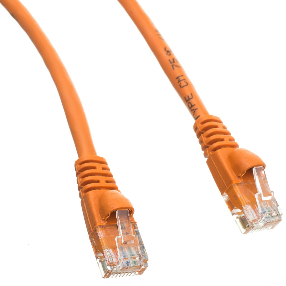 25Ft (25 Feet) CAT6 Crossover Ethernet Network Cable 550Mhz ORANGE 24AWG Network Cable