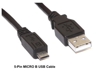 USB2MC-10MMBLK 10Ft USB 2.0 (A) Male to USB (Micro B) 5pin Cable