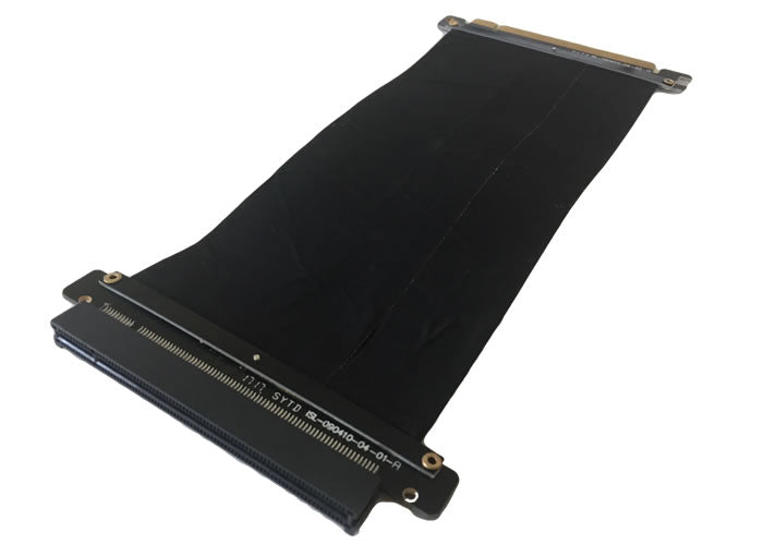 10-Inch PCI-Express 16X 3.0 Flexible Black Extender High Speed Riser Ribbon Cable