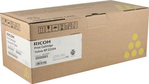 Ricoh 406044 Yellow Toner Cartridge Laser 2000 Page FOR SP C220 C221 C222 SER 2K PG YLD