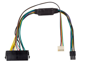 "12"" (12 Inch) ATX Main 24-Pin to 6-Pin PCI-E PSU Power Adapter Cable 18AWG for HP Computers"