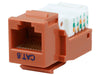 CAT6 Tool-less Keystone Jack 90 Degree 110 UTP Orange