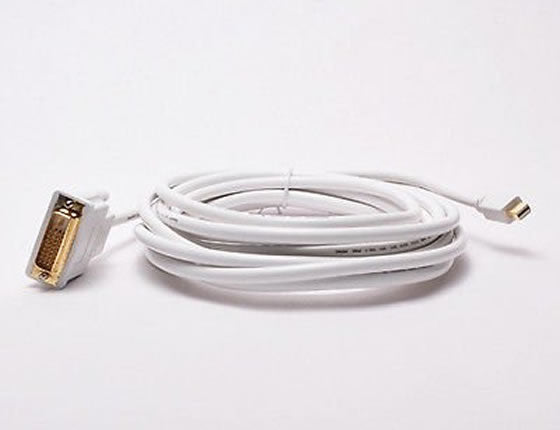 Mini Displayport/Thunderbolt to DVI-D Male to Male Cable (3Ft, 6Ft, 10Ft, 15Ft)