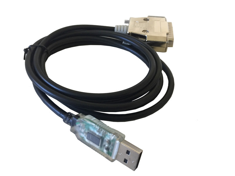 6Ft (6 Feet) USB to Serial RS-232 DB-25 Male Straight-Thru Cable FTDI Chipset (5-Wires)