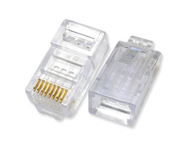 RJ45C Premium 50u RJ45 Shielded Modular Connectors 100-Pack