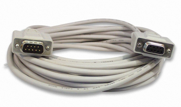MEC-50MF 50Ft. DB-9M (Male) to DB-9F (Female) Serial Extension Cable