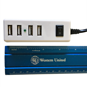 4-Port USB 2.0 Portable Multi-Purpose Charger w/5Ft Power Cord