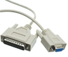DB9 (9-Pin) Female to DB25 (25-Pin) Male Serial Null Modem Cable (6Ft, 10Ft, 15Ft, 25Ft)
