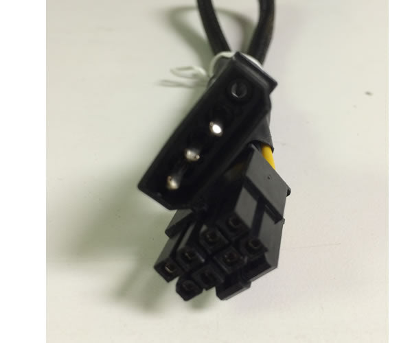 "AYA 12"" 4-Pin Molex Male to 8pin (4+4Pin Detachable) EPS-12V Converter Adapter Black Sleeves"