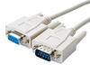 MEC-15MF 15Ft. DB-9M (Male) to DB-9F (Female)  Serial Extension Cable