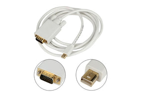 6Ft. (6 Feet) Mini Displayport Thunderbolt Compatible Male to VGA Male Cable