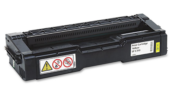 Ricoh 406478 SP-C310HA Yellow Toner Cartridge Laser 6000 Page C310HA SP C231SF SP C232SF SP