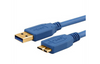 USB 3.0 Cable A (M) to Micro B (M) Cable with Gold Connectors Certified SuperSpeed USB for Win/Mac (3Ft, 6Ft, 10Ft, 15Ft)