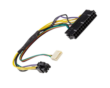 AYA 12 ATX 24-Pin Female to 12-Pin Male Converter Adapter Power Supply Cable 18AWG Black Sleeved Cord for Acer Q87H3-AM Q87
