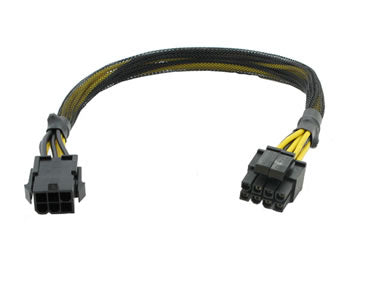 CB-6M-44F 6-Pin PCI-Express Male to 4+4-Pin EPS Female Cable
