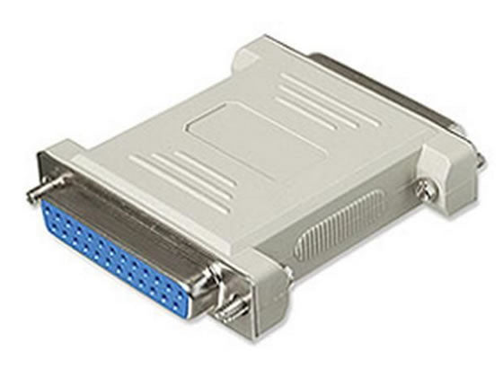 SGC-NM25FF DB25 25-Pin (RS2-232) Female to Female Serial Data Transfer Null Modem Gender Changer