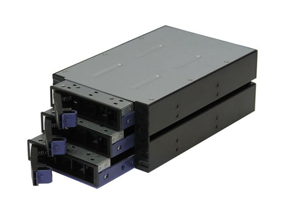 "Norco SS-300 3.5"" SATA/SAS Rack Mount 3 Bay Hot Swap Rack Module"