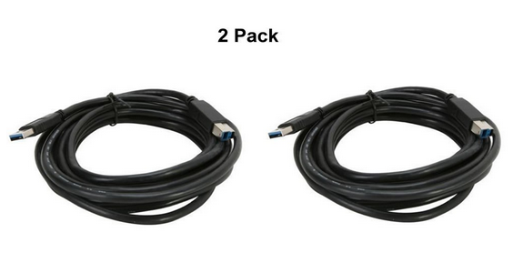 6Ft (6 Feet) USB 3.0 SuperSpeed 5 Gbps A Male to B Male Cable (2-Pack)