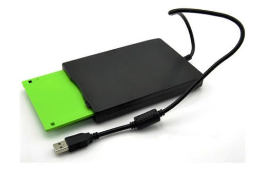 "USB 3.5"" External Slim 1.44MB Floppy Disk Drive Black"