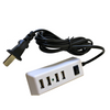 4-Port USB 2.0 Portable Multi-Purpose Charger w/5Ft Power Cord (USB-CHARGE-HUB-4)