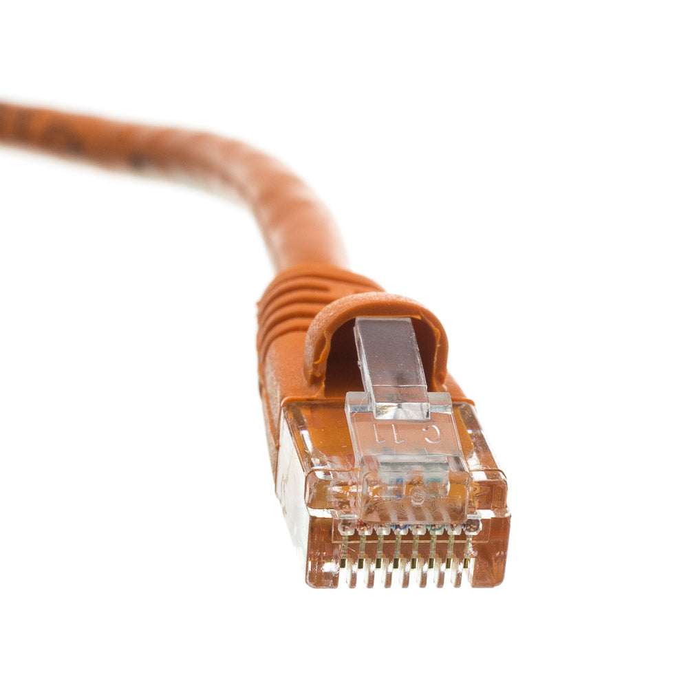 50Ft (50 Feet) CAT6 RJ45 24AWG Gigabit 550MHz Snagless UTP Network Patch Cable ORANGE