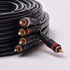 P3V2A-75 75Ft 5-RCA Component Video/Audio Coaxial Cable RG-59/U for HDTV DVD VCR