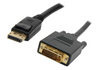 DisplayPort Male to DVI-D (24+1) Dual Link Cable 28AWG Gold Plated Connectors 1920x1200 (3Ft, 6Ft, 10Ft, 15Ft)