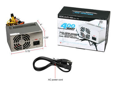 Athena Power AP-MPS3ATX40 400W Micro PS3 / ATX12V SLI Power Supply