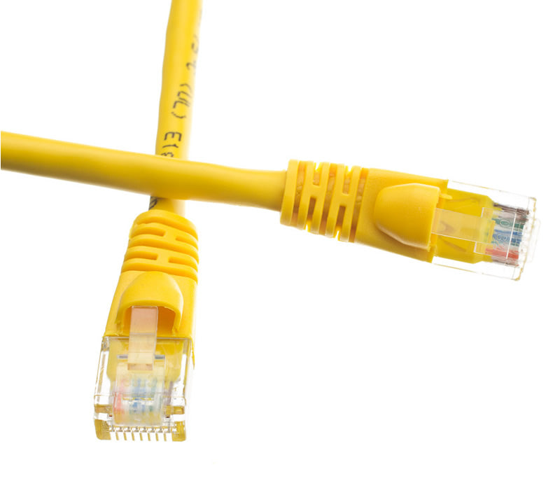 25Ft (25 Feet) CAT6 RJ45 24AWG Gigabit 550MHz Snagless UTP Network Patch Cable YELLOW