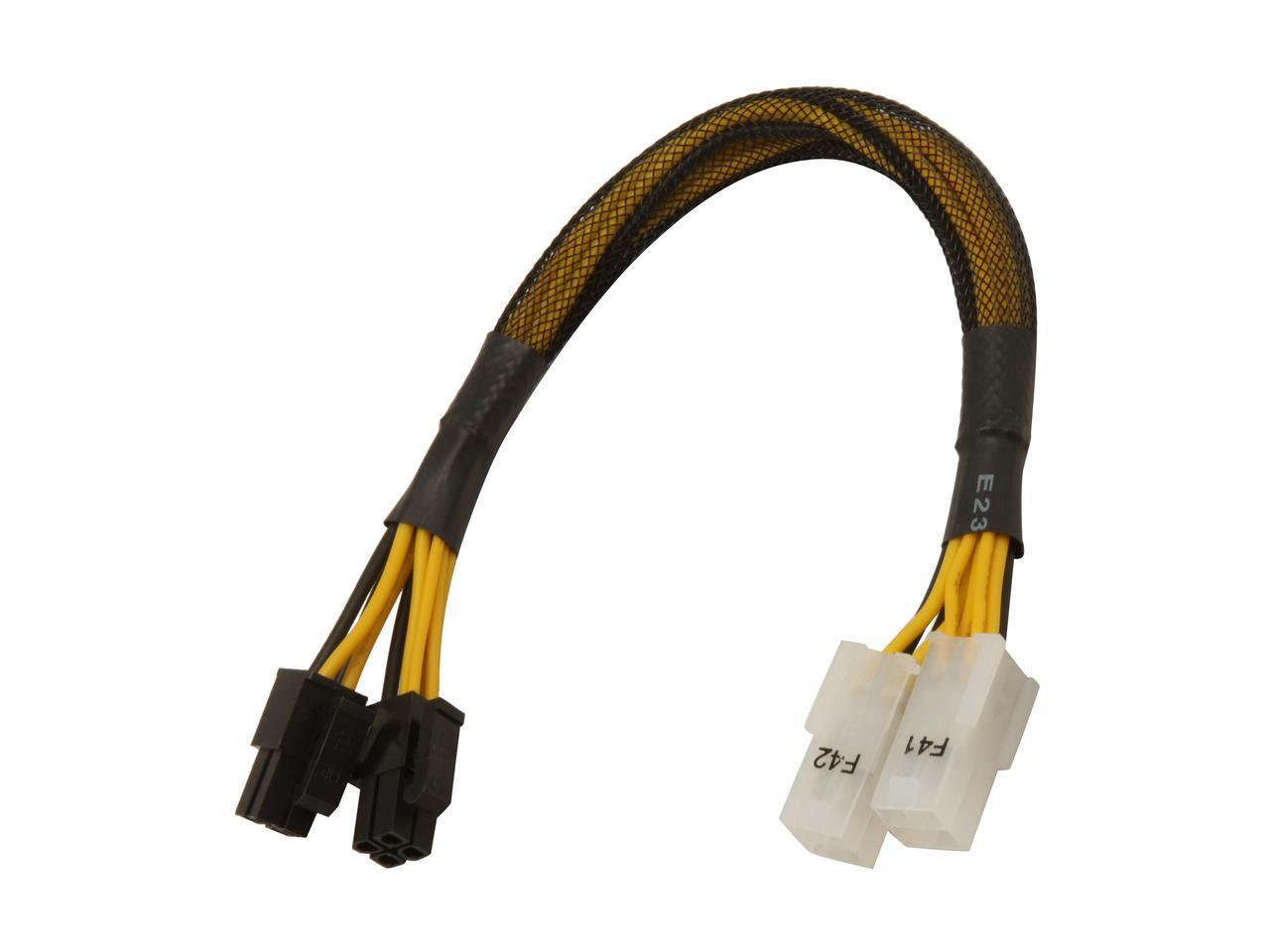 "AYA 8"" ATX-12V 4Pin/EPS-12V 8Pin ATX-EPS Extension & Conversion Four-In-One Cable AYA-M84M84F"